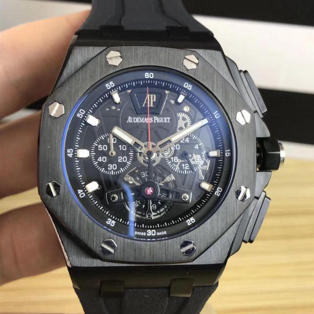 in stock 7ca21 03029 箱付き 腕時計 オーデマピゲ ラバーベルト メンズ 人気 | フリマアプリ ラクマ