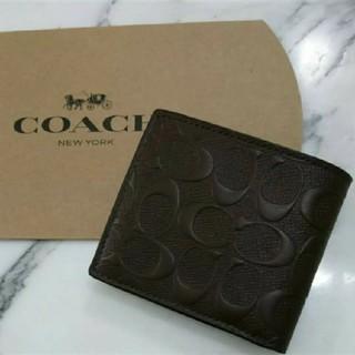 wholesale dealer e6061 16e42 ⭐新品⭐ コーチ メンズ 折り財布 ブラウン