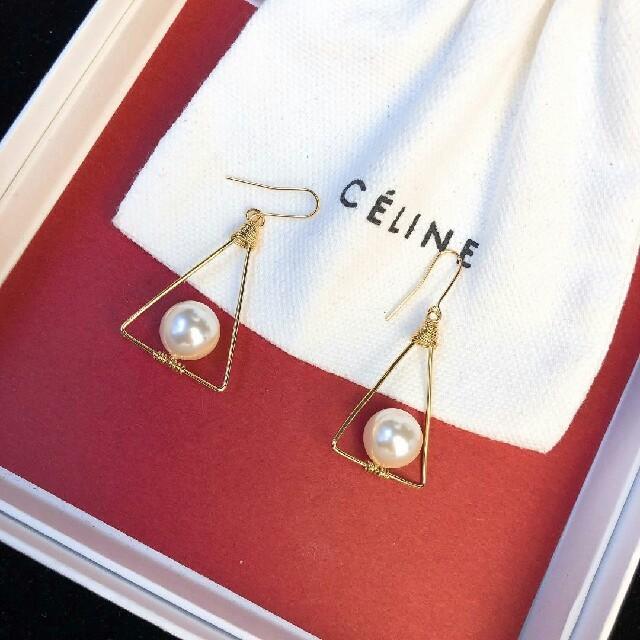 celine(セリーヌ)の極美品【Celine】イヤリング レディースのアクセサリー(イヤリング)の商品写真