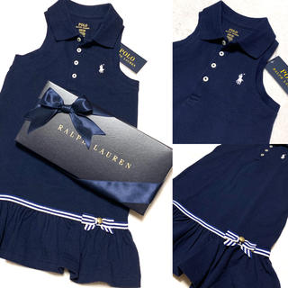 ポロラルフローレン(POLO RALPH LAUREN)の新品✨ノースリーブ ポロシャツ ワンピース 5/115(ワンピース)