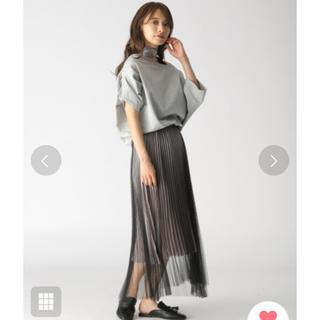 ミスティウーマン(mysty woman)のmystywoman チュールサテンプリーツスカート(ロングスカート)