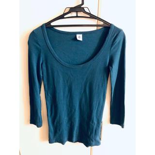 プチバトー(PETIT BATEAU)のプチバトー ラウンドネック七分袖Tシャツ(Tシャツ/カットソー(七分/長袖))