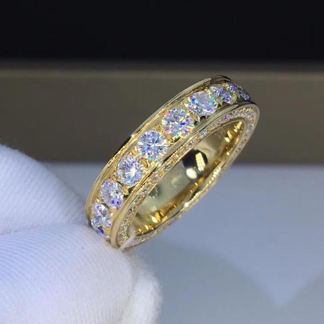 フルエタニティ  モアサナイト ダイヤモンド リング レディースのアクセサリー(リング(指輪))の商品写真
