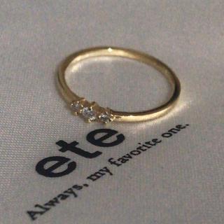 エテ(ete)のete k18 ダイヤモンドリング(リング(指輪))