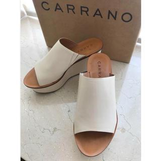 カラーノ(CARRANO)のカラーノ CARRANOサンダル サイズ37定価18,000円 50%OFF! (サンダル)