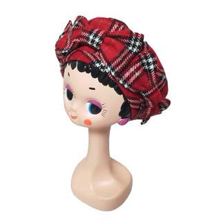 カシラ(CA4LA)のHEIHEI コムデギャルソン CA4LA チェック 蝶結び ベレー帽(ハンチング/ベレー帽)