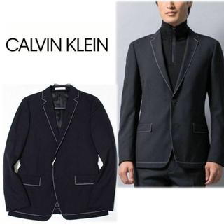 カルバンクライン(Calvin Klein)の《カルバンクライン》新品 ミニスターウールステッチワーク 2Bジャケット S(テーラードジャケット)