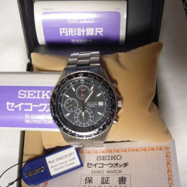 SEIKO/セイコー 逆輸入パイロットクロノグラフ (SND253PC) の通販 by 優待大好き好き's shop|ラクマ