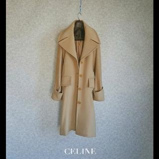 セリーヌ(celine)の超高級 セリーヌ 憧れのフランス製 おしゃれデザインコート エレガントスタイル(チェスターコート)