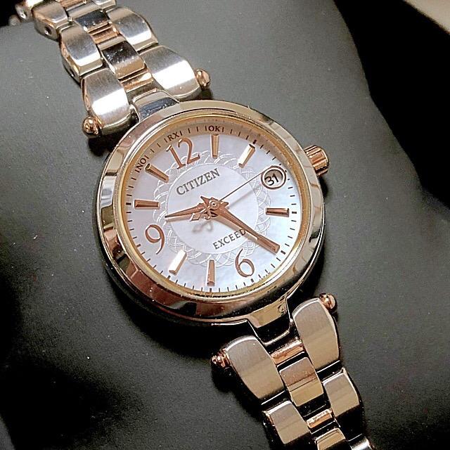 CITIZEN - 美品 シチズン エクシード ソーラー電波 腕時計 ルキアやクロスシー好きな方にもの通販 by mnas shop|シチズンならラクマ