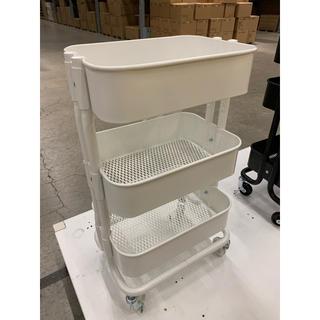 イケア(IKEA)のRASHULT ロースフルト ワゴン, ホワイト(キッチン収納)