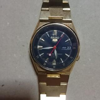 セイコー(SEIKO)のセイコー5 ゴールド 自動巻 逆輸入 23JEWELS(腕時計(アナログ))