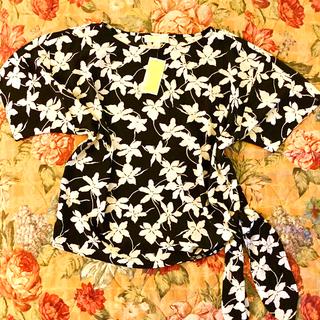 マイケルコース(Michael Kors)のマイケルコース  トップス ブラックホワイト(カットソー(半袖/袖なし))
