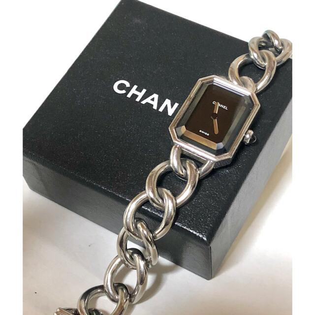 CHANEL - シャネル CHANEL プルミエール   時計 シルバーブラック Lサイズの通販 by ゆーすけ's shop|シャネルならラクマ