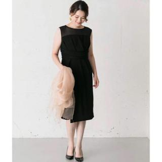 ロッソ(ROSSO)のROSSO ラップシアーヨークドレス(ミディアムドレス)