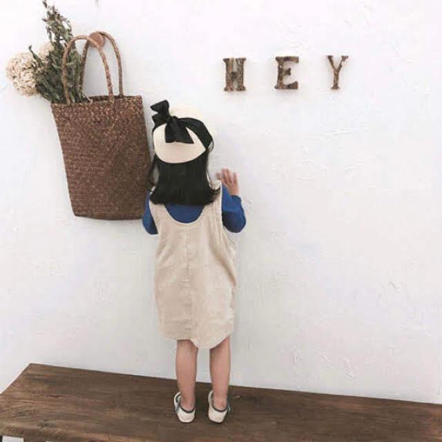 コーデュロイワンピ 90cm キッズ/ベビー/マタニティのキッズ服 女の子用(90cm~)(ワンピース)の商品写真
