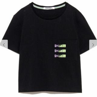 スナイデル(snidel)のNIDEL♡ロゴポケットTシャツ(Tシャツ/カットソー(半袖/袖なし))