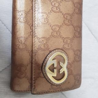 グッチ(Gucci)のキーケースとセットGUCCIゴールドハートGG長財(財布)