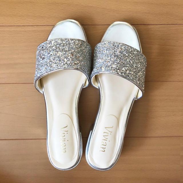 美品*グリッターサンダル レディースの靴/シューズ(サンダル)の商品写真