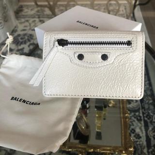 バレンシアガ(Balenciaga)の[新品 VALENCIAGA]  未使用  白 カード・定期入れ(名刺入れ/定期入れ)