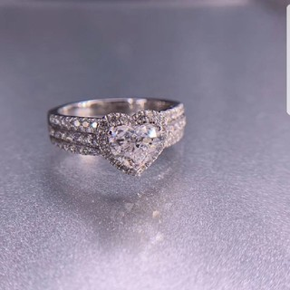 GIA♡1.01ctハートシェイプダイヤモンドリング(リング(指輪))