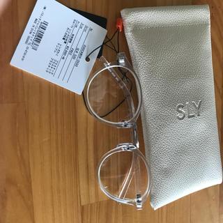 スライ(SLY)のスライ クリア眼鏡(サングラス/メガネ)