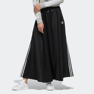 L【新品/即日発送】adidas オリジナルス ロング サテンスカート 黒