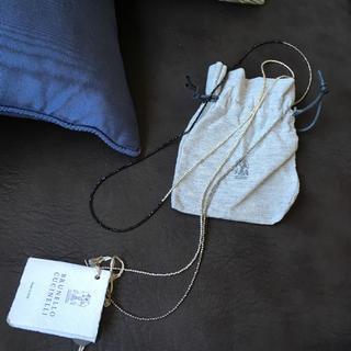 ブルネロクチネリ(BRUNELLO CUCINELLI)のブルネロクチネリ  ネックレス すこしキラキラ目(ネックレス)