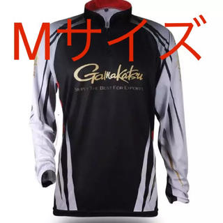 ガマカツ(がまかつ)のgamakatsu フィッシングウェア 吸水速乾 長袖 ブラックMサイズ(ウエア)