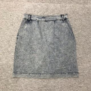 LOWRYS FARM - 美品♡伸縮素材!タイトスカート デニムケミカルウォッシュ