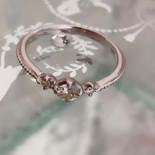 天然ダイヤモンド 0.15カラット♡ピンキーリング プラチナ 3号(リング(指輪))