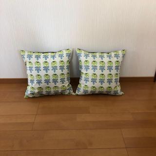 マリメッコ(marimekko)のハンドメイド マリメッコ クッションカバー 2点セット(インテリア雑貨)