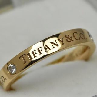 ティファニー(Tiffany & Co.)のティファニー 指輪 バンドリング リング ダイヤモンド ゴールド 金 18K(リング(指輪))