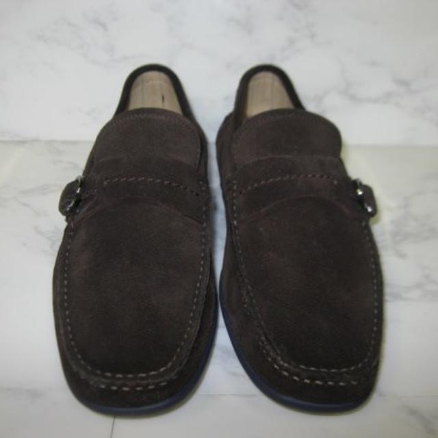 Salvatore Ferragamo(サルヴァトーレフェラガモ)のフェラガモブラウンスエードローファー 数回使用品 6 レディースの靴/シューズ(ローファー/革靴)の商品写真