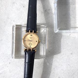ディオール(Dior)の【保証書付/仕上済】ディオール ラウンド ゴールド レディース 腕時計(腕時計)