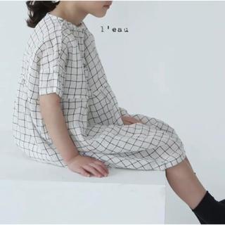 チェック柄ワンピース ❁ 100cm ❁ 韓国こども服(ワンピース)