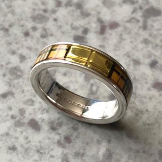 バーバリー(BURBERRY)のバーバリー シルバー ノバチェック リング 11号(リング(指輪))