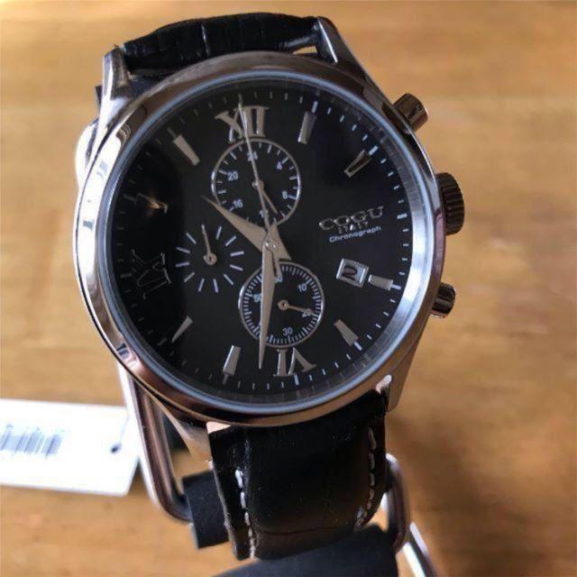 COGU - 新品✨コグ COGU クオーツ クロノ メンズ 腕時計 C65-BK ブラックの通販 by てっちゃん(´∀`)|コグならラクマ