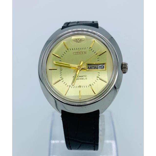 CITIZEN - 美品 アンティーク vintage シチズンオート ゴールド  メンズ 腕時計の通販 by YOTANA's shop|シチズンならラクマ