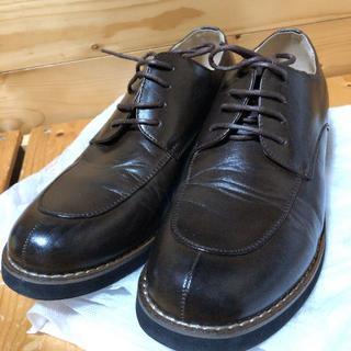 モカシンレースアップシューズ(ブラウン)【25.5〜26.0】(ローファー/革靴)