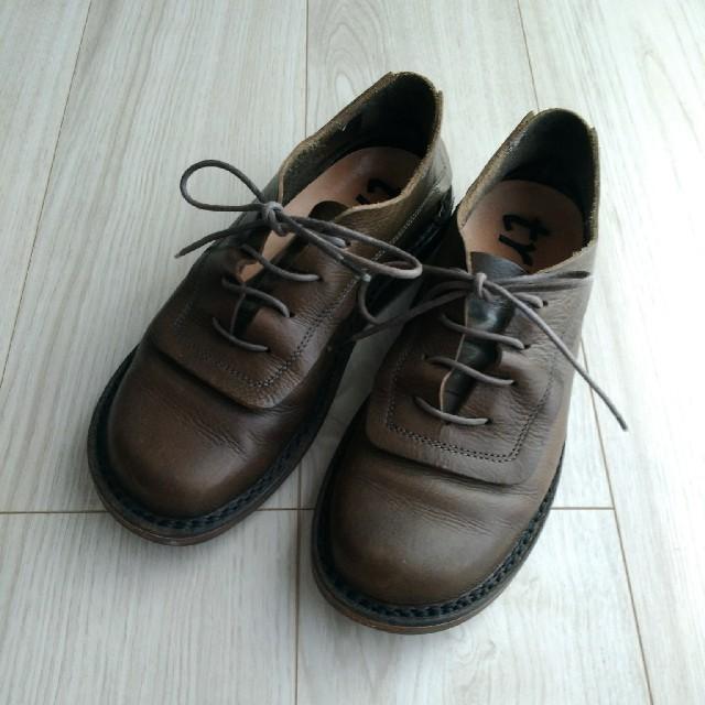 trippen(トリッペン)のtrippen トリッペン★レースアップレザーシューズ カーキブラウン系 36 レディースの靴/シューズ(ローファー/革靴)の商品写真