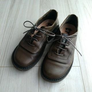 トリッペン(trippen)のtrippen トリッペン★レースアップレザーシューズ カーキブラウン系 36(ローファー/革靴)