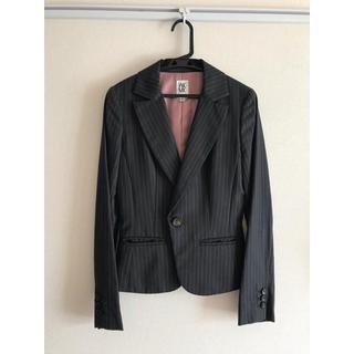ミッシェルクラン(MICHEL KLEIN)のミシェルクラン グレーストライプセットスーツ(スカート)(スーツ)