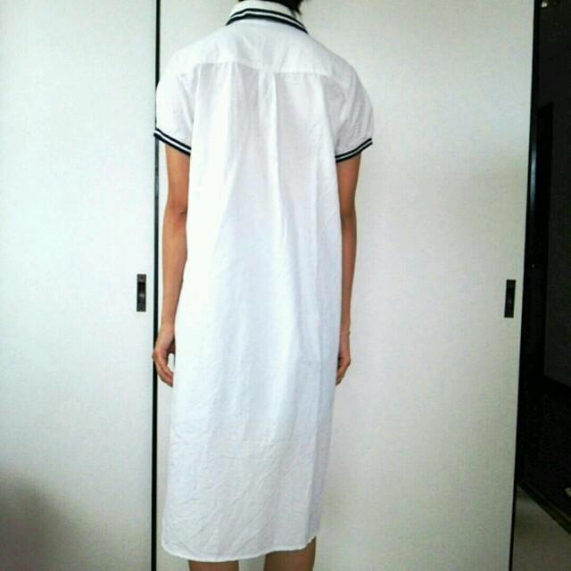 THE EMPORIUM(ジエンポリアム)のロングシャツワンピース 白 羽織 レディースのワンピース(ロングワンピース/マキシワンピース)の商品写真