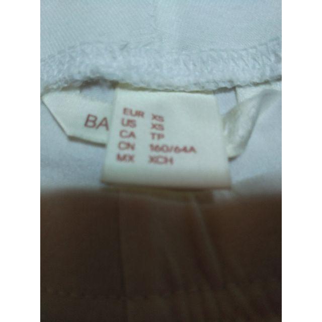 H&M(エイチアンドエム)のH&M、白スパッツXS寸 レディースのレッグウェア(レギンス/スパッツ)の商品写真