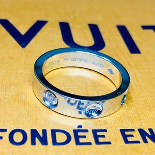 ルイヴィトン(LOUIS VUITTON)の【確実正規品】ルイ ヴィトン K18WG 1Pダイヤ リング AU750 18金(リング(指輪))