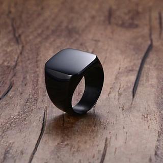 RG002 リング ステンレス黒 15  2.4cm(直径)(リング(指輪))