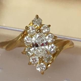 K18ダイヤモンド0.52ctデザイン リング   指輪(リング(指輪))