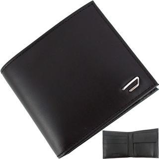 DIESEL - ディーゼル 二つ折り財布 メタルロゴ ブラック