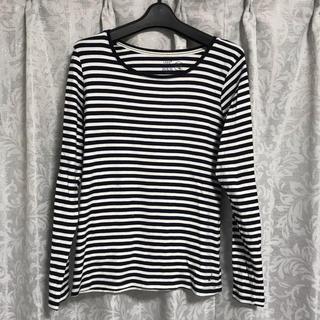 エイチアンドエム(H&M)の美品!H&M*ボーダーカットソー*Tシャツ*Lサイズ(Tシャツ(長袖/七分))